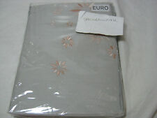 New Barbara Barry Bali Hai Euro European Pillow Sham - Cantaloupe Bali Floral