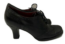 Naturalizer Black Leather Wingtip Shoes Laced Pumps Womens Size 5 1/2 M
