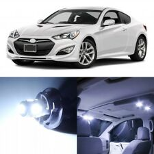 10 x White Interior LED Lights Package For 2010-2016 Hyundai Genesis Coupe +TOOL
