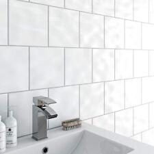 Sample of White Gloss 15x15cm Ceramic Wall Tiles