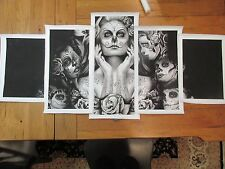 Bonafide Hustler Black & White Canvas Print 5 Pieces Wall poster Art NEW