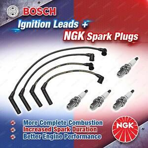 4 x NGK Spark Plugs + Bosch Ignition Leads for Hyundai Excel X3 Getz TB BU51H