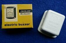 VINTAGE NOS FRIEDLAND V&E BAKELITE MINIBUZZER ELECTRIC DOOR BUTLER BUZZER BELL