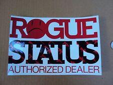 VINTAGE ROGUE STATUS WINDOW DEALER STICKER  Decals Skateboarding New