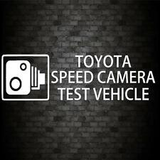 TOYOTA SPEED CAMERA STICKER Funny Car JDM Van Window Bumper Novelty Vinyl Decal