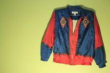 Vintage Westbound Sport Women's Windbreaker Jacket Aztec Light Maroon/Blue