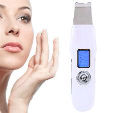 Portable LCD Facial Ultrasonic Scrubber Skin Purifier Peeling Exfoliator Cleaner