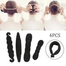 4x Fille Cheveux Chignon Coiffure Magique Clip Accessoire Bun Donut Twist Outil