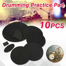 10Pcs Drumming Practice Pad Silencer For Bass Snare Drum Sound Off Quiet Mute