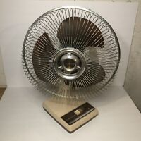 "VTG Galaxy 12"" Amber Blade 3-Speed Oscillating Fan Type 12-I Style K I-CR WORKS"