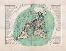 Buache de Neuville Map of the World on Polar Projection circa 1781 [Flat Earth]