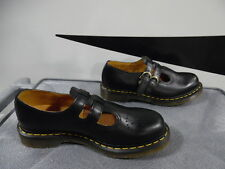 New Womens Dr. Martens 8065 Black Leather Mary Jane Buckle Shoes L10/EU42 (J285)