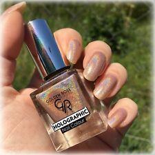 NEW Amazing Holographic Nail Polish Golden Rose #02