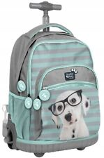 DOG little dog TROLLEY School Bag Backpack on wheels wheeled bag NEW PREMIUM