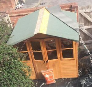 Shires Haddon Shiplap Timber 7x5 Summer House Shed Garden Building