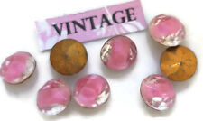 Vintage 9mm Glass Rhinestones Pink Givre Pointed Back Foil NOS #1372A