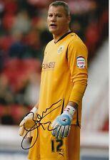 Burnley mano firmado Brian Jensen 12x8 Foto.