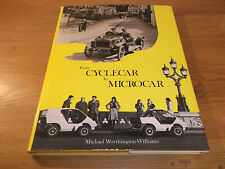 Book. Transport. From Cyclecar To Microcar. Worthington-Williams. 1st 1981 HB.