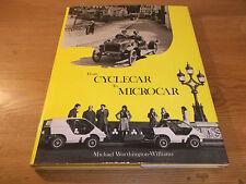 Livre transport de CYCLECAR à microcar. worthington-williams. 1st 1981 HB
