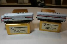 2 Oriental Painted BRASS HO Scale Burlington Route CB&Q F3A&B Diesel Locomotives