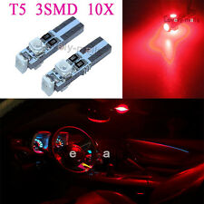 17 18 T5 3 SMD LED Gauge Cluster Key Ring Sunvisor Shifter Light Bulb RED