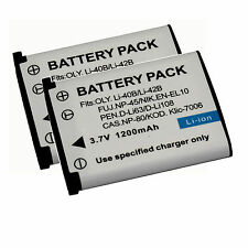 2x Rechargeable Fujifilm NP-45A Battery For Fuji J10 J35 Z300 Z31 JX255 BC-45B