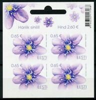Estonia 2019 MNH Liverwort 4v S/A M/S Plants Flowers Nature Stamps