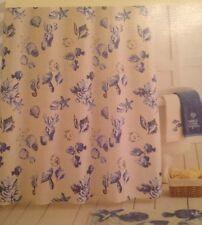 Sonoma Seabrook Shower Curtain Ocean/Beach Sea Shells & Seahorses Blue & Beige