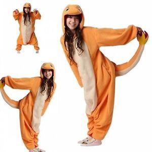 New Pokemon Charmander Kigurumi Adult Animal bodysuit Cosplay Costume Pajamas I1