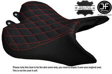 B RED DIAMOND ST CUSTOM FITS TRIUMPH SPEED TRIPLE R 16-17 FRONT VINYL SEAT COVER