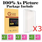 3-Pack Premium Real Tempered Glass Film Screen Protector for Apple iPhone Phone