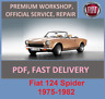 Advice service and repair manual Fiat 124 Spider 1975-1982