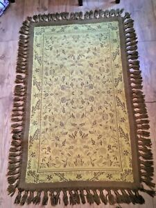CASA PUPO  ORIGINAL VINTAGE DOUBLE SIDED WOVEN RUG 70S VERY GOOD CONDITION