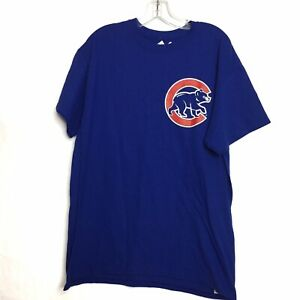 Majestic Chicago Cubs Kris Bryant MLB Basebal Shirt Adult Large Blue Red Mens