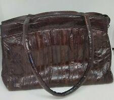 vintage womens brown eel skin purse made in Korea
