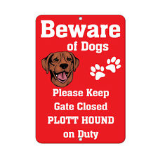 Plott Hound Dog Beware of Fun Novelty Metal Sign