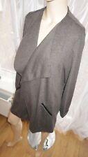 AL Long jacket Wrap cardigan duster by George grey casual smart size 14uk