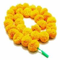 10 PC Indian Marigold Flower Garland,Artificial Party Garland Wedding Decor EXP