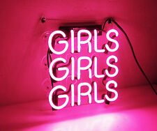 Three GIRLS Pink Sexy Boutique Beer Bar Room Wall Decor Neon Sign Light