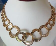 Women's Shinny Gold Plated Stainless Steel Large Link  Necklace 18 Inch