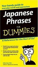 Japanese Phrases for Dummies (2004, Trade Paperback)