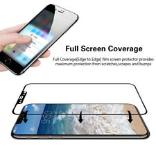 For iPhone X/XS/Max/XR/8P Anti-Shatter Glossy 9H Tempered Glass Screen Protector