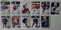 1992-93 Upper Deck Series 1 UD USA Team Set of 11 Hockey Cards