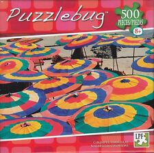 NEW Puzzlebug 500 Piece Jigsaw Puzzle ~ Colorful Umbrellas