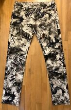 Alexander McQueen Skinny Fit Graffiti Jeans 34x32, Made In Italy