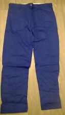 Ladies uk smart  trousers Royal blue NHS hospital Work Driver Size 6 8 14 16