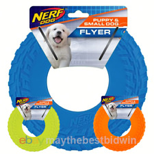 """Nerf Dog Flyer, Puppy & Small Dog, Durable Rubber Frisbee Toy, 8"""", Pick a Color"""
