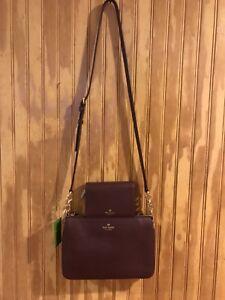 Kate Spade New York pebbled leatherCrossbody Shoulder Bag W/ Wallet. Set Of 2