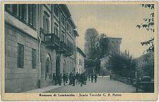 CARTOLINA d'Epoca  BERGAMO  - Romano di Lombardia : SCUOLA RUBINI