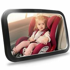 Shynerk Baby Car Mirror, Safety Car Seat Mirror, Wide Crystal Clear View